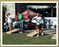 Evergreen Turf's Jimmy Fox at Cornhole Cup